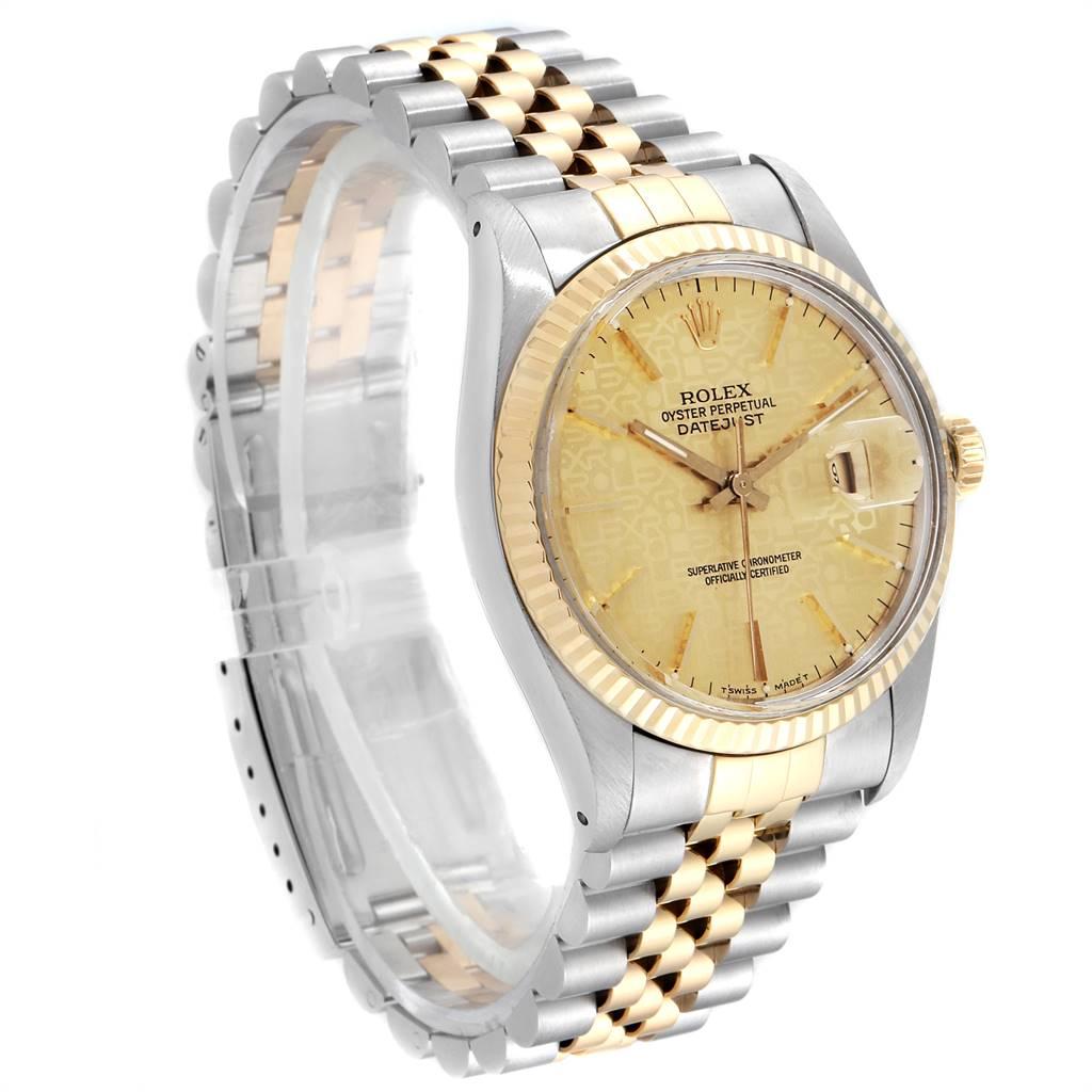 24275 Rolex Datejust Steel Yellow Gold Anniversary Dial Vintage Mens Watch 16013 SwissWatchExpo