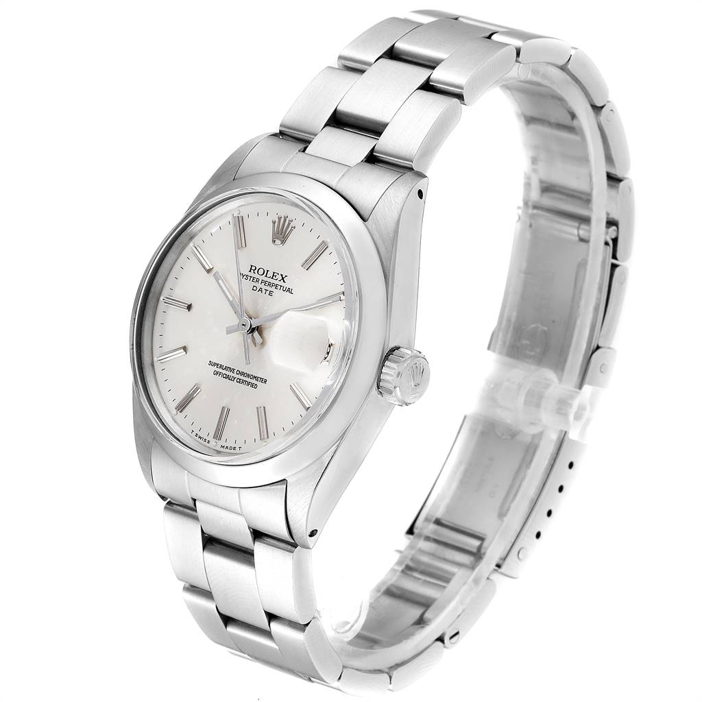 24299 Rolex Date Automatic Stainless Steel Vintage Mens Watch 1500 SwissWatchExpo