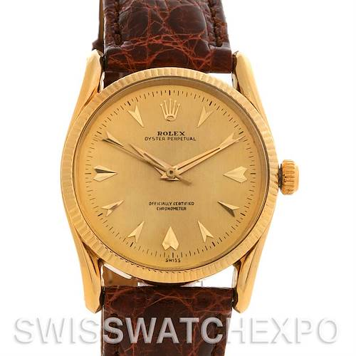 Photo of Rolex  Oyster Perpetual 14K Yellow Gold Vintage Bombe 6593