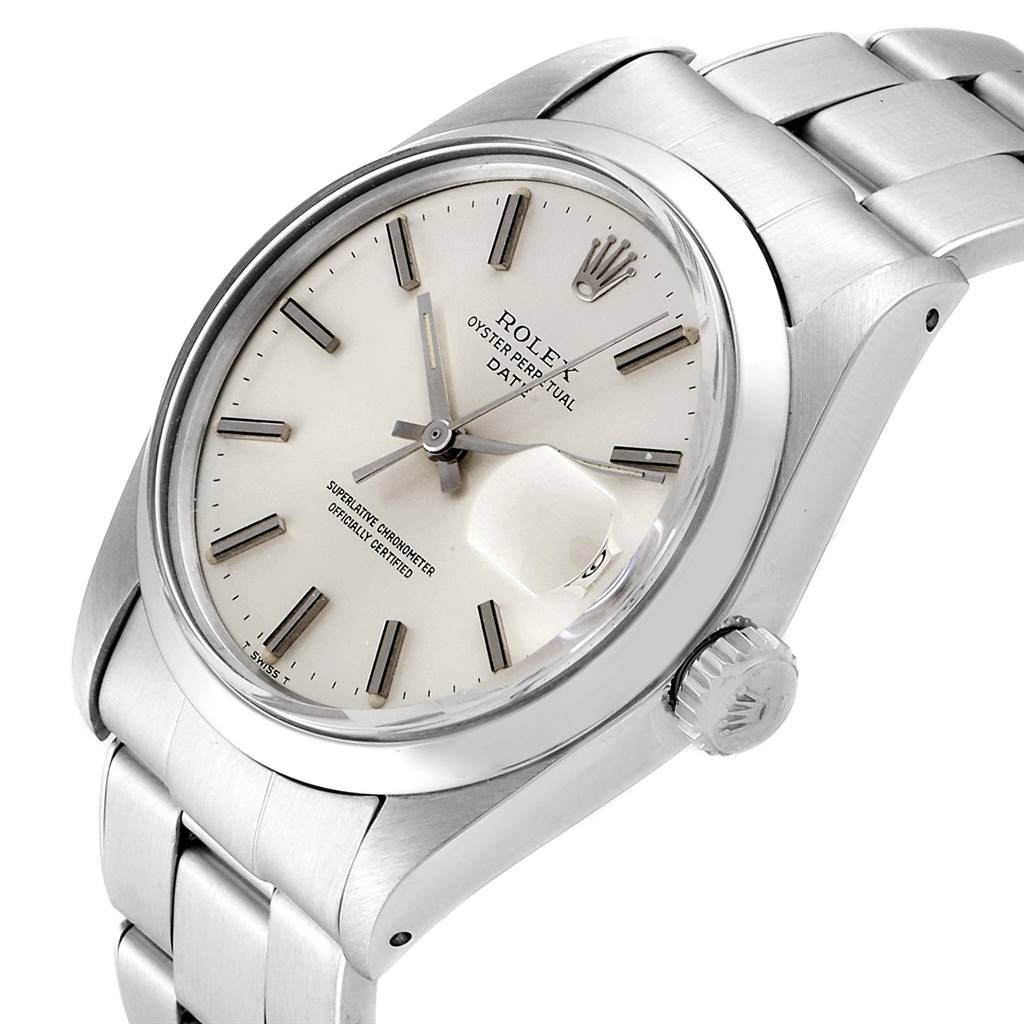 24251 Rolex Date Automatic Stainless Steel Vintage Mens Watch 1500 SwissWatchExpo