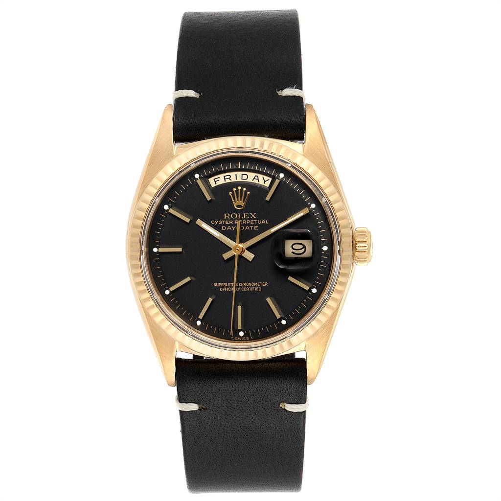 24154 Rolex President Day-Date Yellow Gold Vintage Mens Watch 1803 SwissWatchExpo