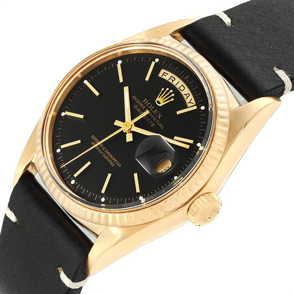 Rolex President Day-Date Yellow Gold Vintage Mens Watch 1803 SwissWatchExpo