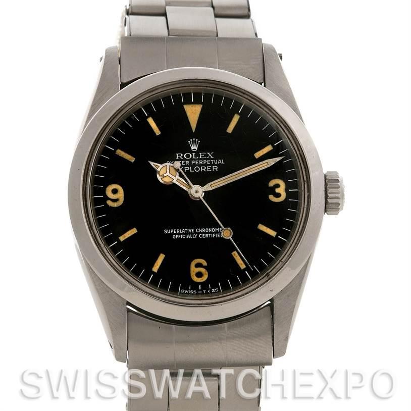 2597 Rolex  Explorer Vintage Stainless Steel Watch 1016 Year 1971 -1972 SwissWatchExpo