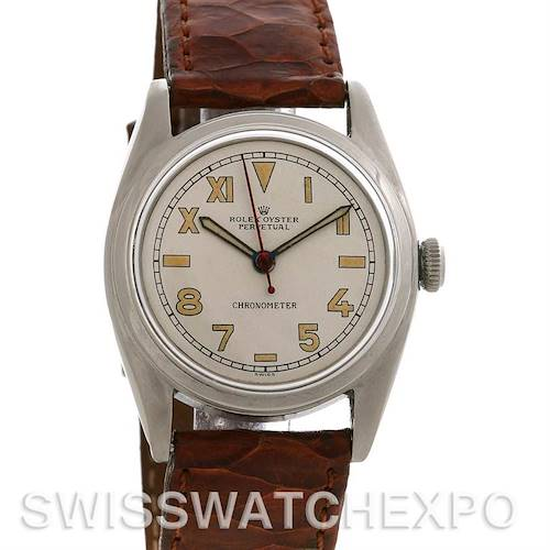 Photo of Rolex Vintage Oyster Perpetual Bubbleback Watch 5048 yearr 1949