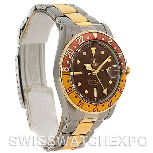 2669 Rolex GMT Master Vintage Steel and 18K Gold Nipple Dial Watch 1675  SwissWatchExpo