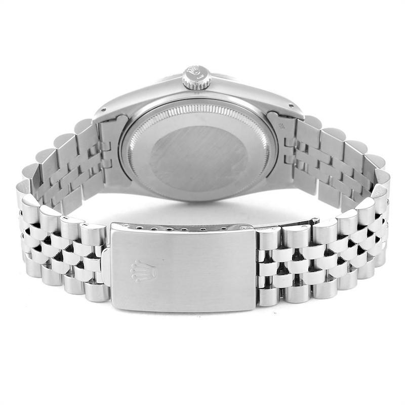 Rolex Datejust Vintage Grey Dial Steel Mens Watch 16030 SwissWatchExpo