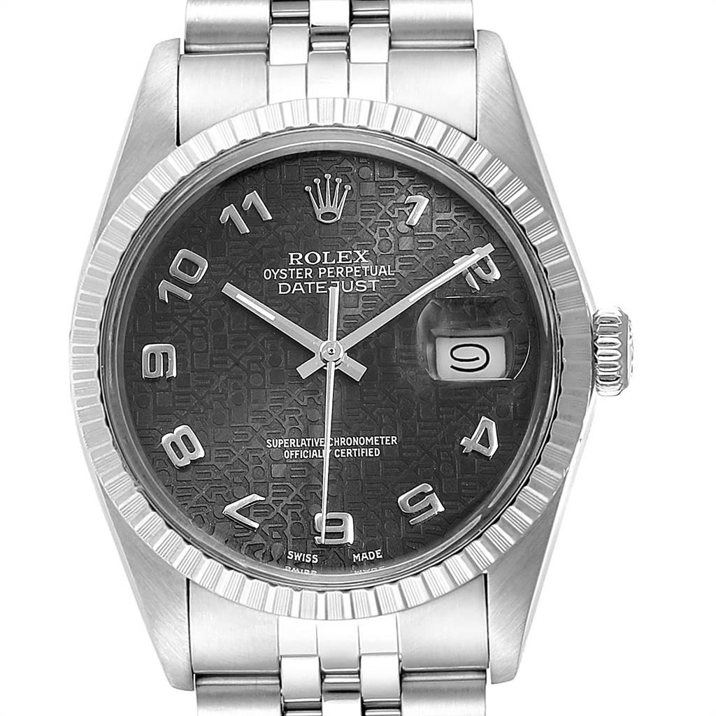 Rolex Datejust Vintage Grey Dial Steel Mens Watch 16030
