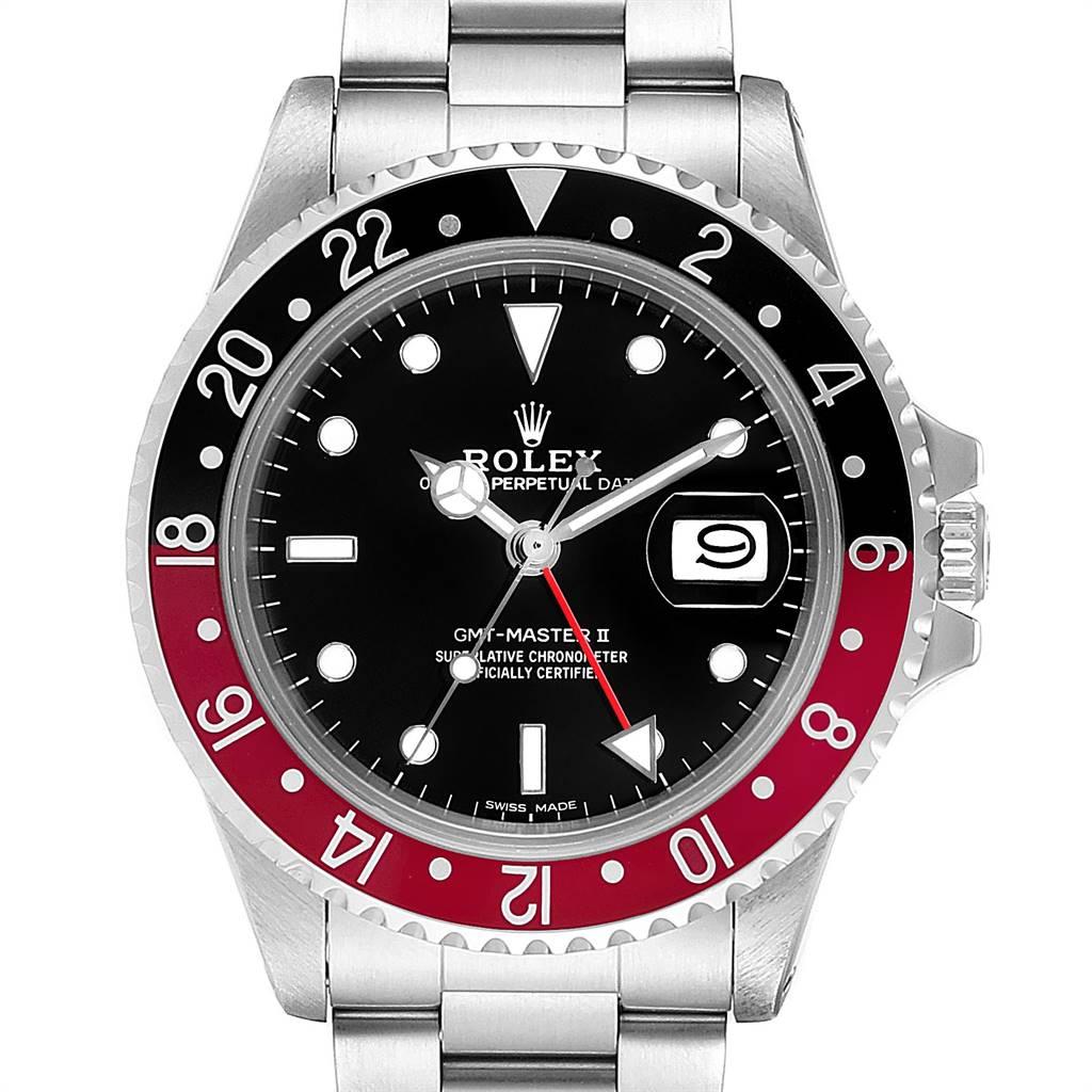 Rolex GMT Master Fat Lady Vintage Coke Black Red Bezel Mens Watch 16760