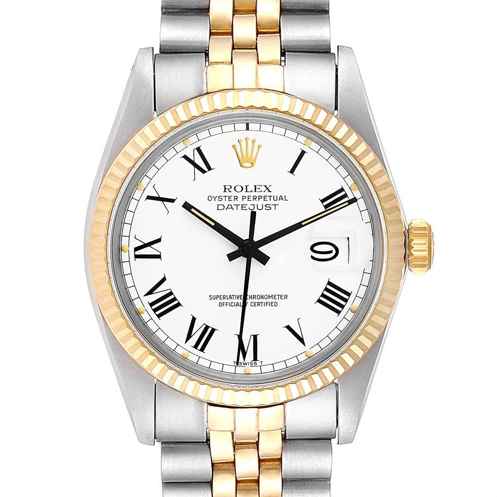 Rolex Datejust Steel Yellow Gold Buckley Dial Vintage Watch 16013 Unworn