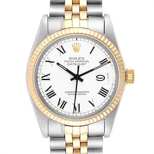 Photo of Rolex Datejust Steel Yellow Gold Buckley Dial Vintage Watch 16013 Unworn