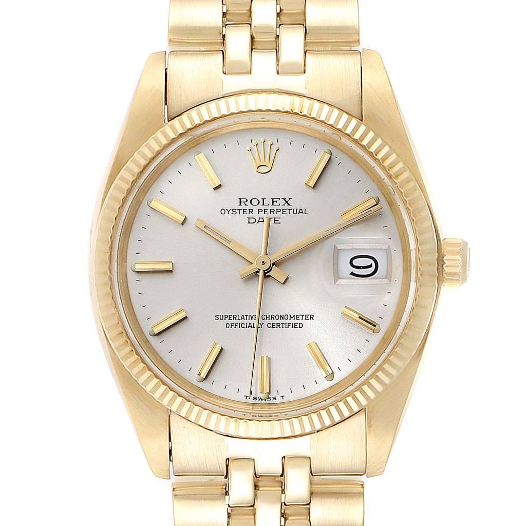 Rolex Date Yellow Gold Jubilee Bracelet Vintage Mens Watch 1503 Box