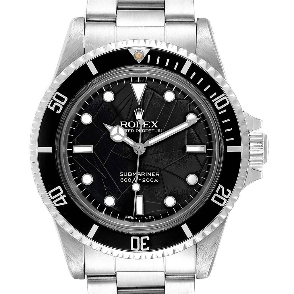 Rolex Submariner Vintage Spider Net Dial Steel Mens Watch 5513