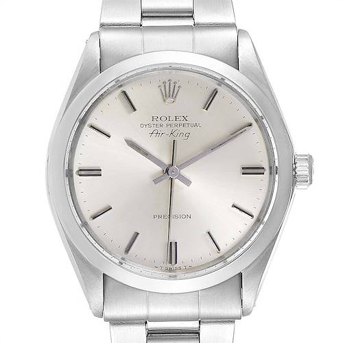 Photo of Rolex Air King Vintage Stainless Steel Silver Dial Mens Watch 5500
