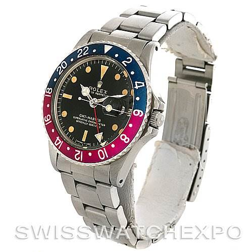 2760 Rolex Rolex GMT Master Vintage Watch Purple1675 Gilt Dial SwissWatchExpo