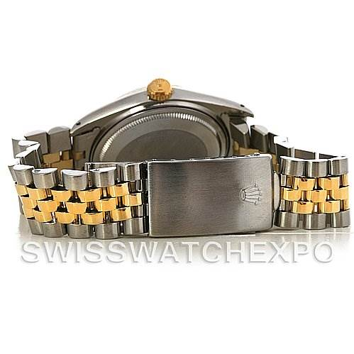 2886 Rolex Datejust Vintage Mens Stainless Steel 14K Yellow Gold Watch 16013 SwissWatchExpo