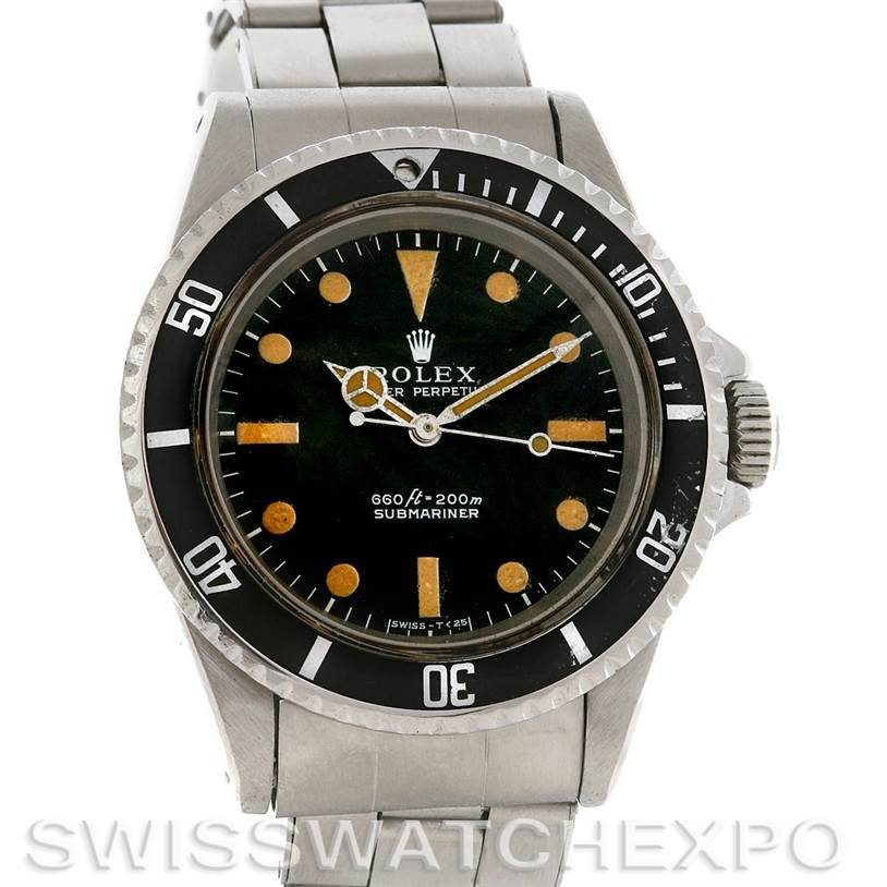 2961 Vintage Rolex Submariner Stainless Steel 5513 Year 1969 SwissWatchExpo