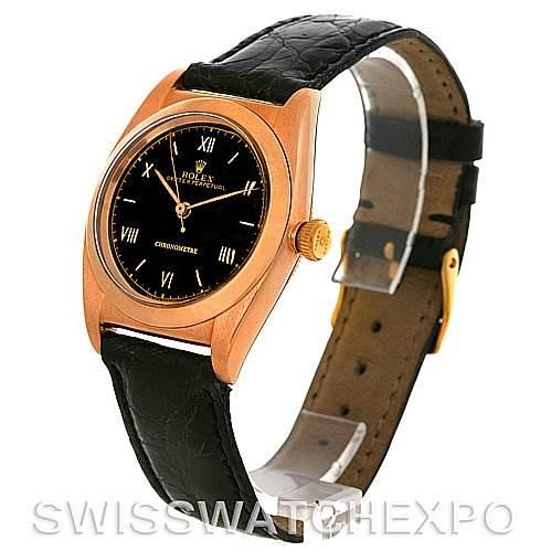 2812 Rolex Vintage Bubbleback 18K Rose Gold Watch 3131 SwissWatchExpo