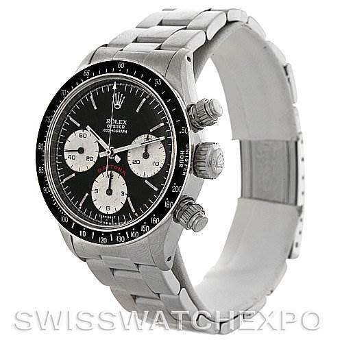 Rolex Cosmograph Daytona Vintage Stainless Steel Watch 6263 SwissWatchExpo