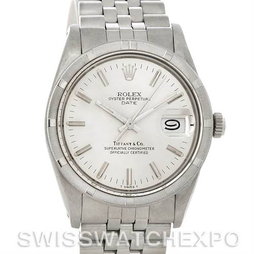 Photo of Rolex Date Mens Tiffany Dial Steel Vintage Watch 15010