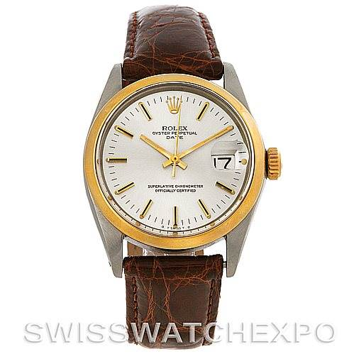 31634fee5f8 ... 4252 Rolex Oyster Perpetual Date Vintage Steel and 14K Yellow Gold  Watch 1500 SwissWatchExpo ...