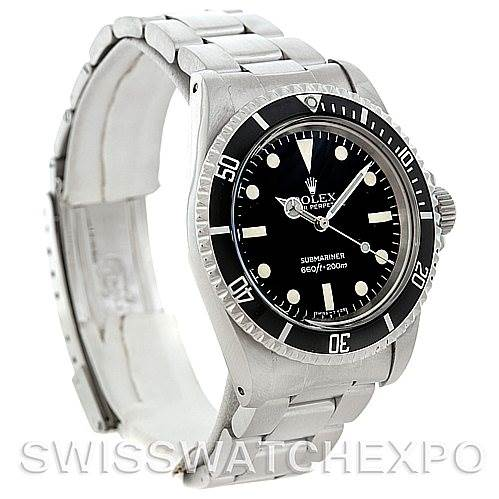 5458 Rolex Submariner 5513 Vintage Stainless Steel men's Watch SwissWatchExpo