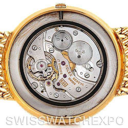 4618 Rolex Vintage 18k Yellow Gold Men's Watch 9577 SwissWatchExpo