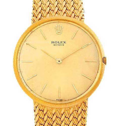 Photo of Rolex Vintage 18k Yellow Gold Men's Watch 9577