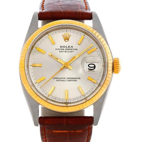 Photo of Rolex Datejust Mens Steel 18K Gold Vintage Watch 1601
