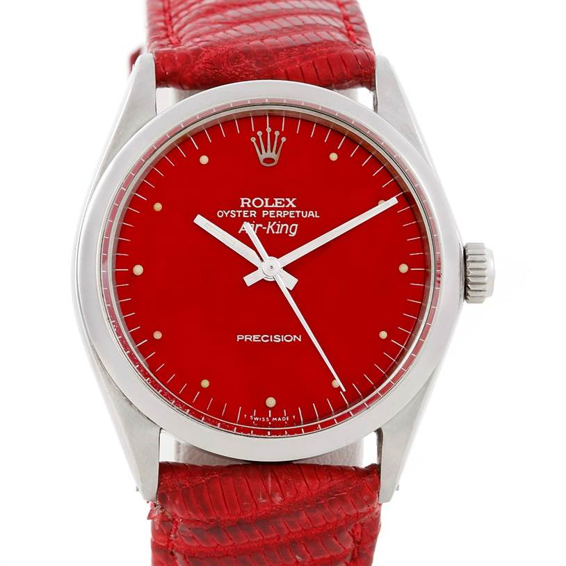 6523 Rolex Air King Vintage Mens Steel Watch 1002 SwissWatchExpo