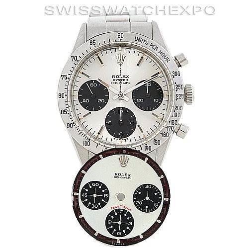 Rolex Cosmograph Daytona Vintage Stainless Steel Watch 6239 SwissWatchExpo
