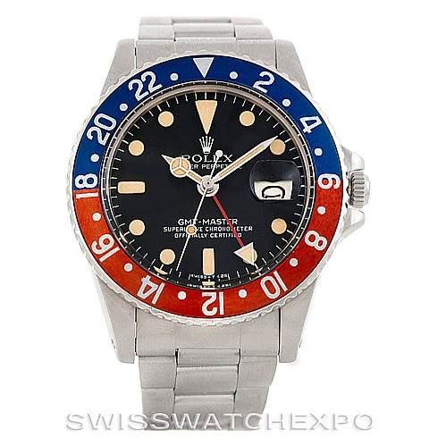 6553 Rolex GMT Master Vintage Steel Mens Watch 1675 SwissWatchExpo