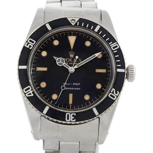 Photo of Rolex Submariner Vintage Stainless Steel Mens Watch 5508