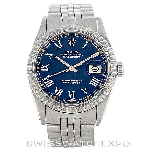 Rolex Datejust Vintage Mens Steel Buckley Dial Watch 1603