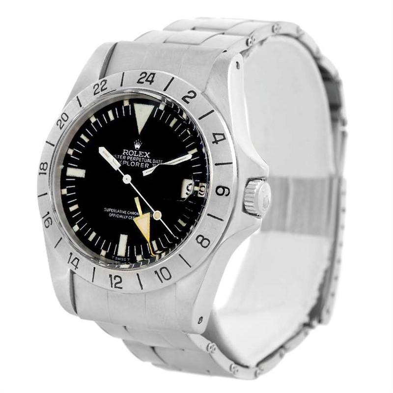 Rolex Explorer II Steve Mcqueen Vintage Steel Watch 1655 SwissWatchExpo