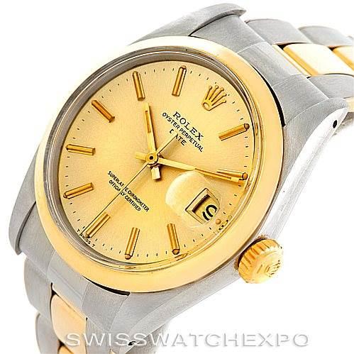 6639 Rolex Date Vintage Mens Steel 14k Yellow Gold Watch 1500 SwissWatchExpo