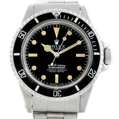 Photo of Rolex Submariner Vintage Steel Mens Watch 5512