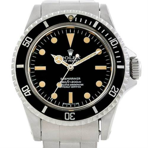 Photo of Rolex Submariner Vintage Pointed Guard Mens Watch 5512