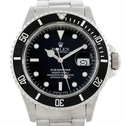 Photo of Rolex Submariner Vintage Steel Mens Watch 168000