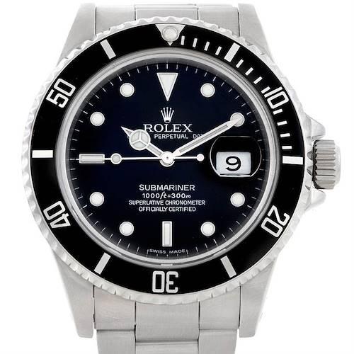 Photo of Rolex Submariner Vintage Steel Mens Watch 16800