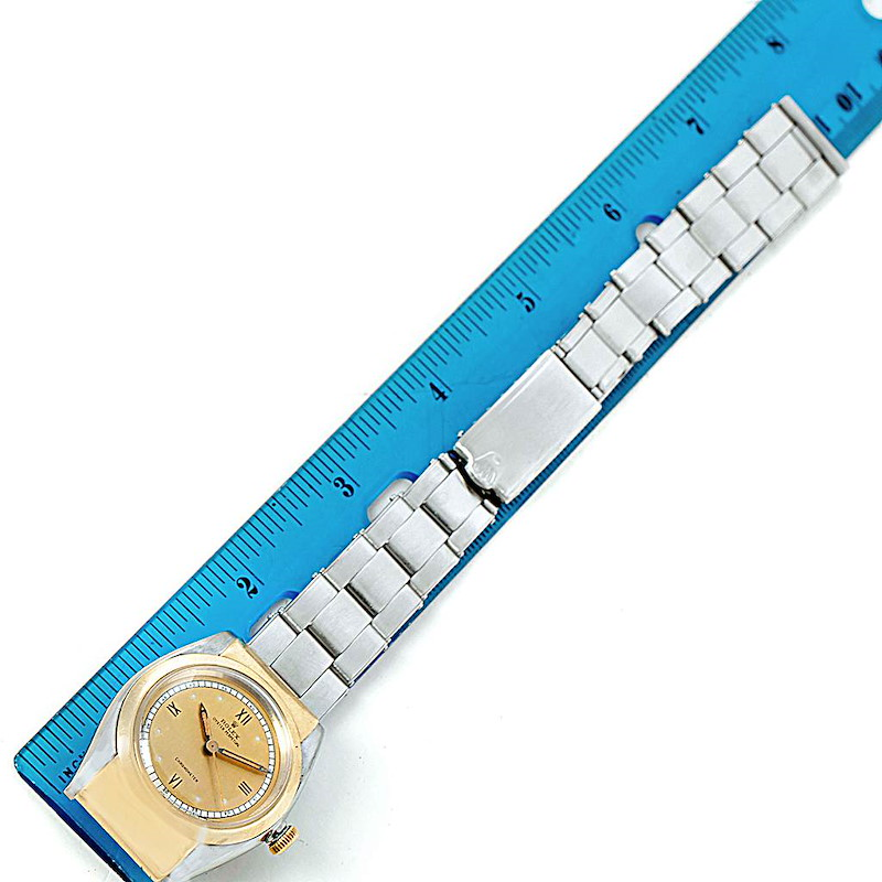 Rolex Oyster Perpetual Bubbleback Hooded Lugs Vintage Steel Gold Watch 3065 SwissWatchExpo