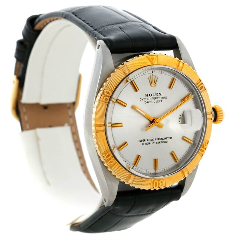 Rolex Vintage Thunderbird Turnograph Steel Yellow Gold Watch 1625 SwissWatchExpo