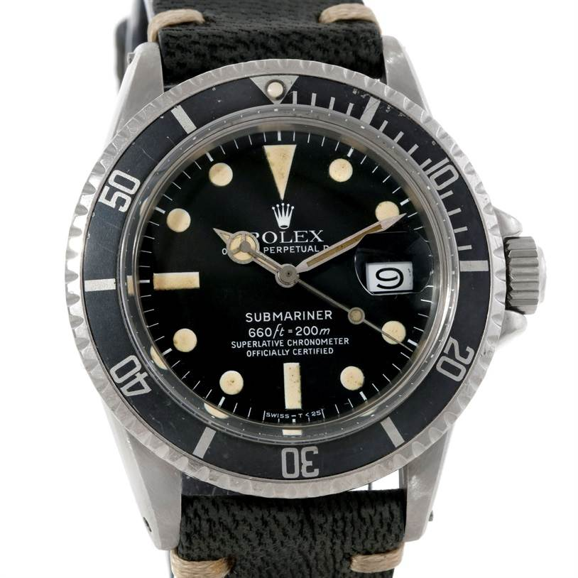 4861 Rolex Submariner Vintage Stainless Steel Mens Watch 1680 SwissWatchExpo