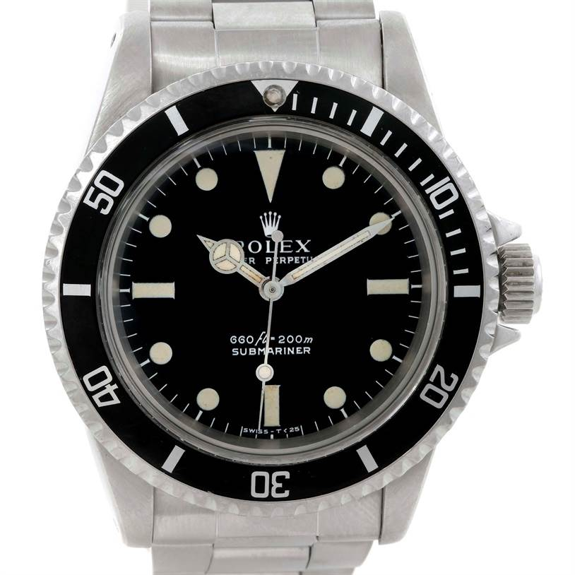 rolex submariner vintage stainless steel mens 5513