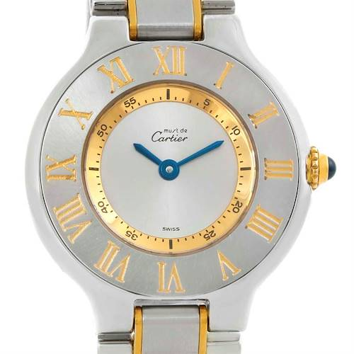 Photo of Cartier Must 21 Stainless Steel Yellow Gold Ladies Watch W10073R6
