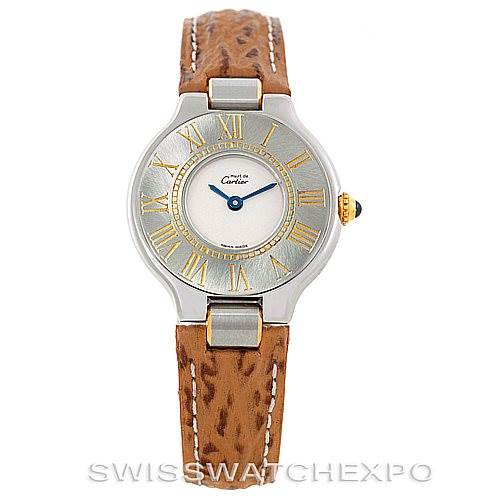 6361 Cartier Must 21 Steel and Gold Ladies Watch W1007323 SwissWatchExpo