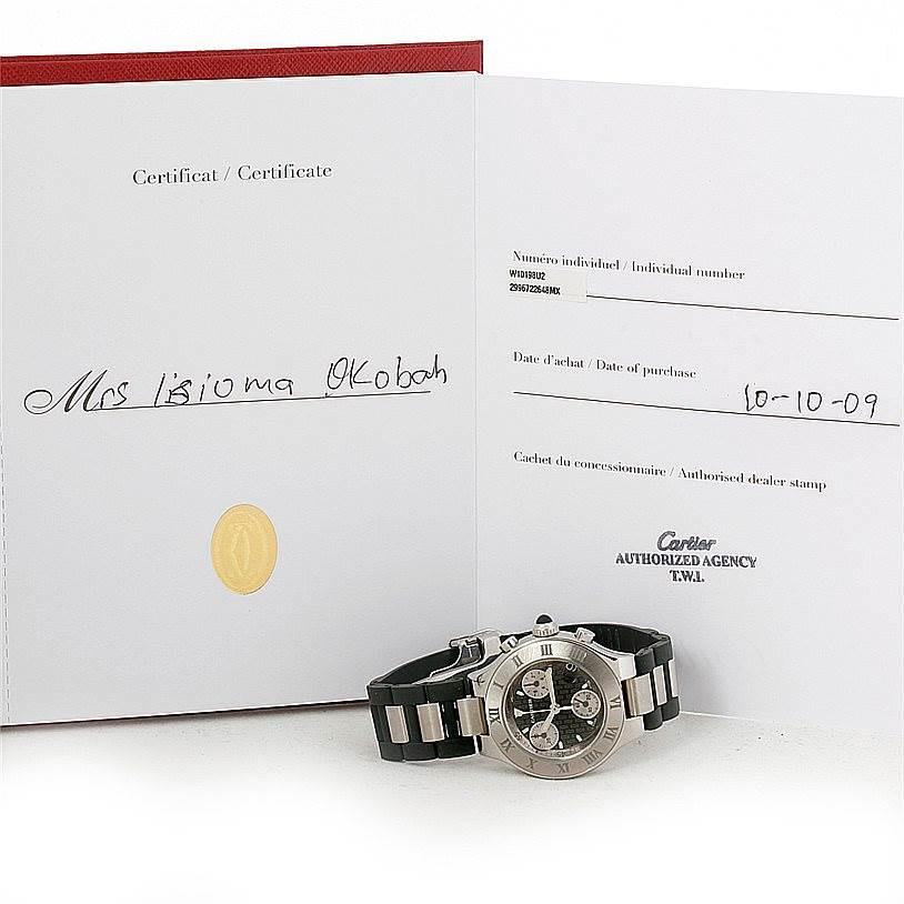 8277 Cartier Must 21 Chronoscaph Ladies Watch W10198U2 Unworn SwissWatchExpo