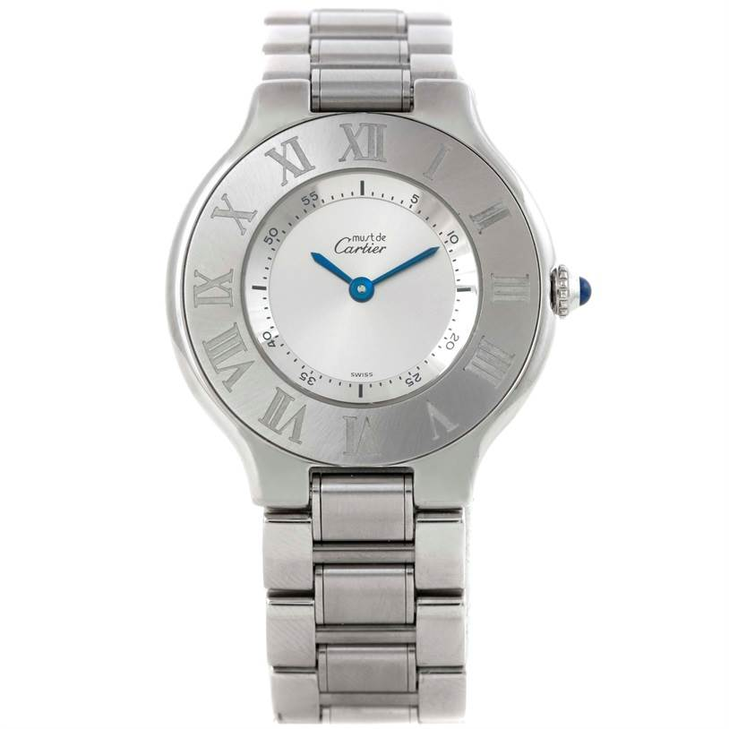 9384 Cartier Must 21 Stainless Steel Ladies Watch W10109T2 SwissWatchExpo