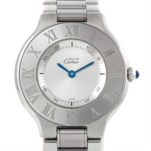 Photo of Cartier Must 21 Stainless Steel Ladies Watch W10109T2