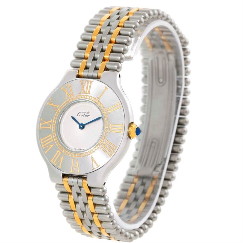 9830 Cartier Must 21 Steel and Gold Ladies Watch W10073R6 SwissWatchExpo