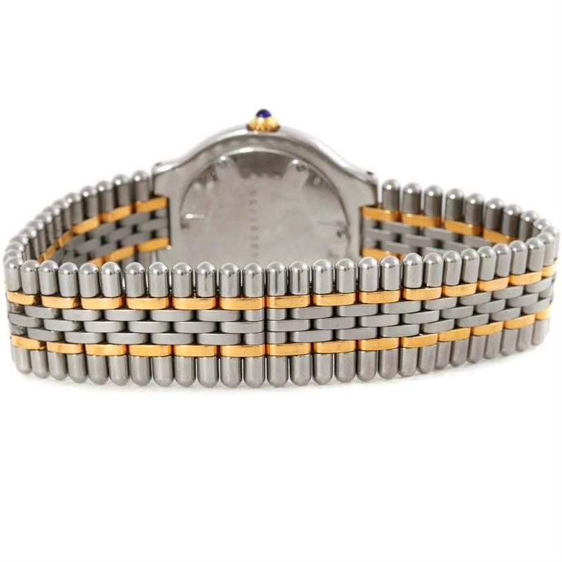 9830 Cartier Must 21 Steel and Gold Ladies Watch W10073R6 SwissWatchExpo